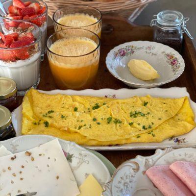 Ontbijt met biologische en streekproducten